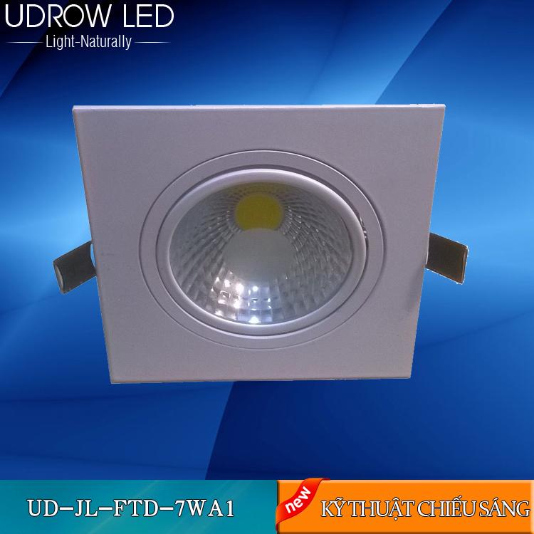Đèn LED âm trần đôi/ Đèn led âm trần mặt vuông 7w